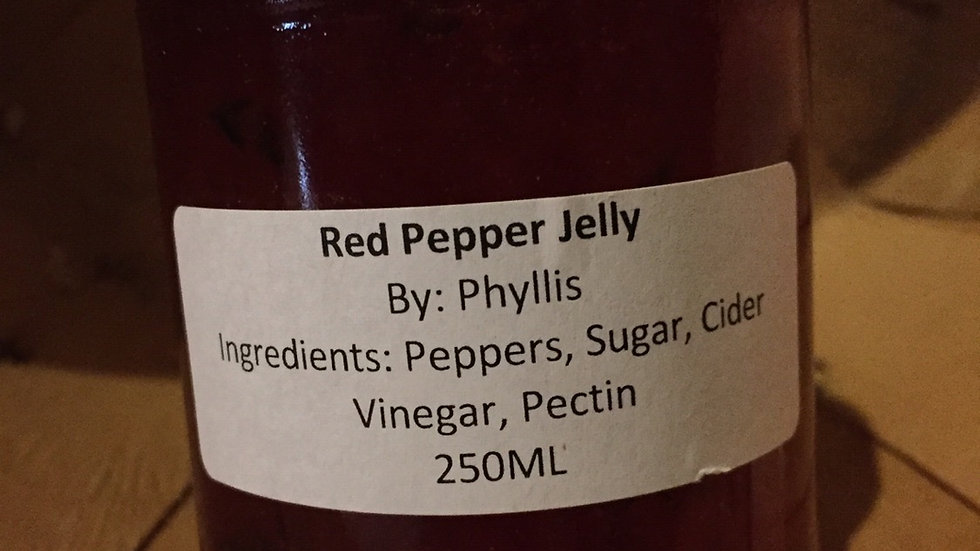Phyllis' Red Pepper Jelly (250ml)