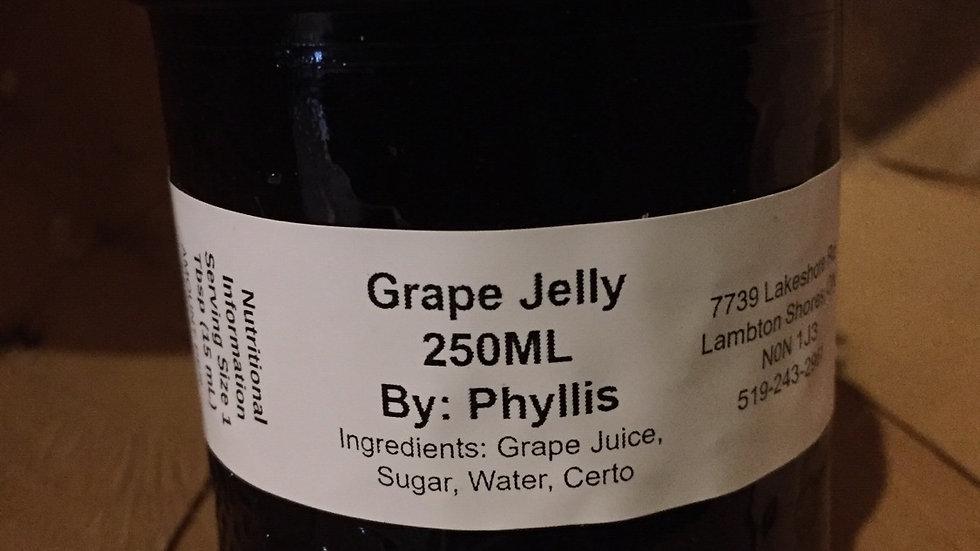 Phyllis's Grape Jelly (250 ml)