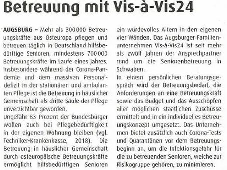 Vis-à-Vis24 in der katholischen Sonntagszeitung