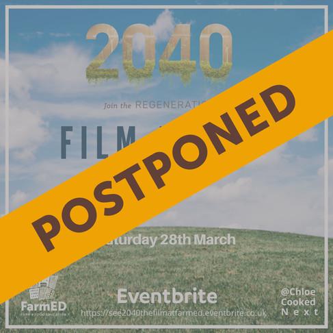 2040 Screening Postponed