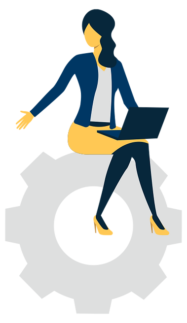 Omnichannel CogWheel & Woman Laptop.png