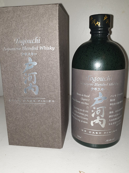 Togouchi saké cask finish 70cl/40*