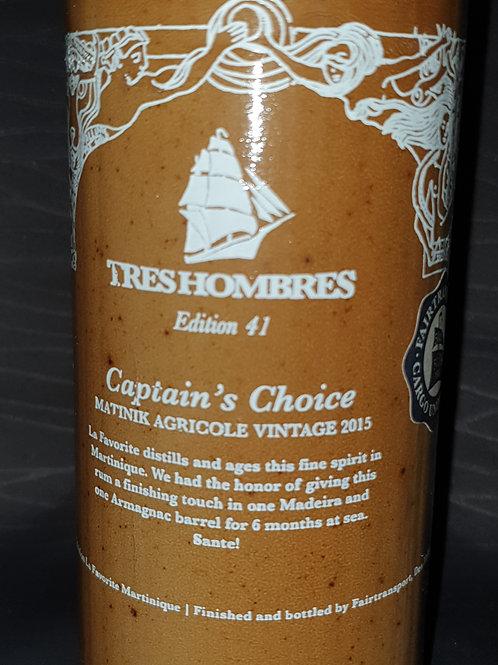 Captain's Choice TRES HOMBRES Ed 41 Matinik Agricole Vintage 2015 LA FAVORITE -