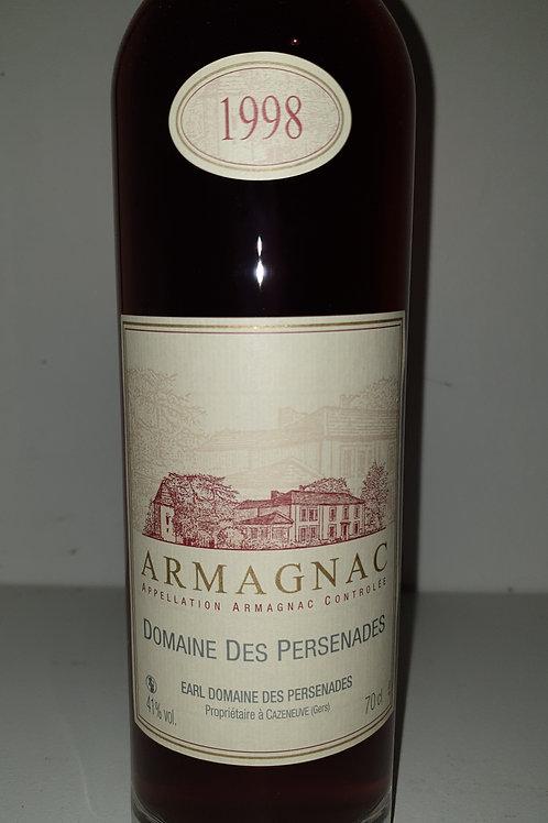 Armagnac champion du monde70cl Domaine des persenades 1998