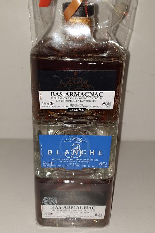 Empilable 3 Bas- armagnac 20cl ...1 xo /1 VSOP/1Hors d'age