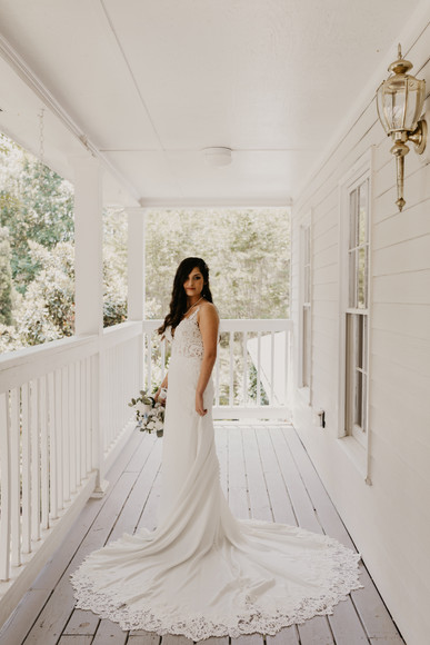 Bridal Shoot on the Porch