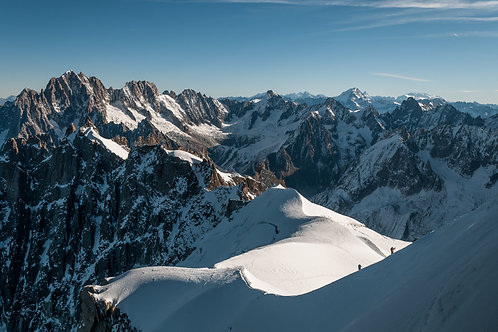 Climbing Aguille Du Midi