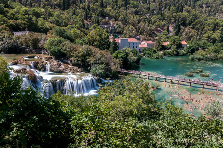 Krka National Park Aerial