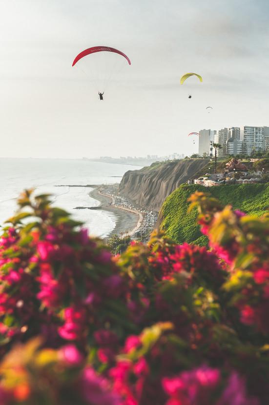 Lima Paragliders Sunset Garden portrait