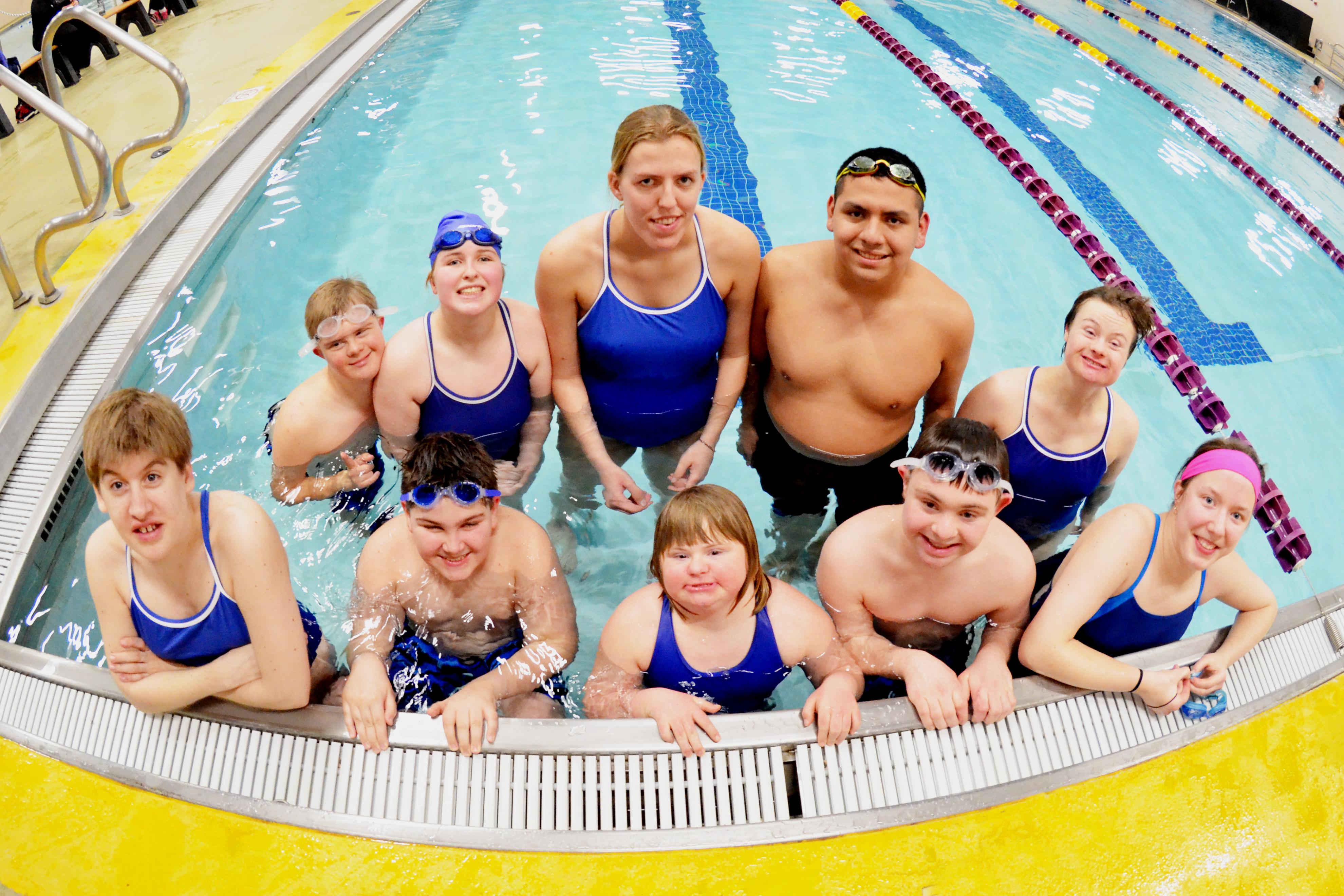 Swimming Team Photo