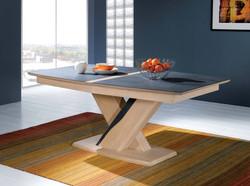 Table tonneau pied central