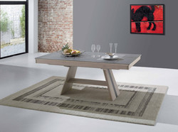 Table pied central Céramique