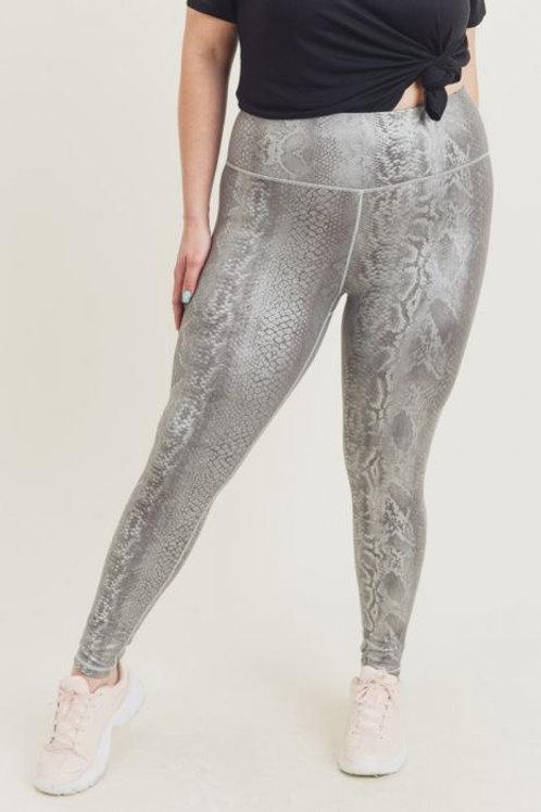 Silver Snake Print