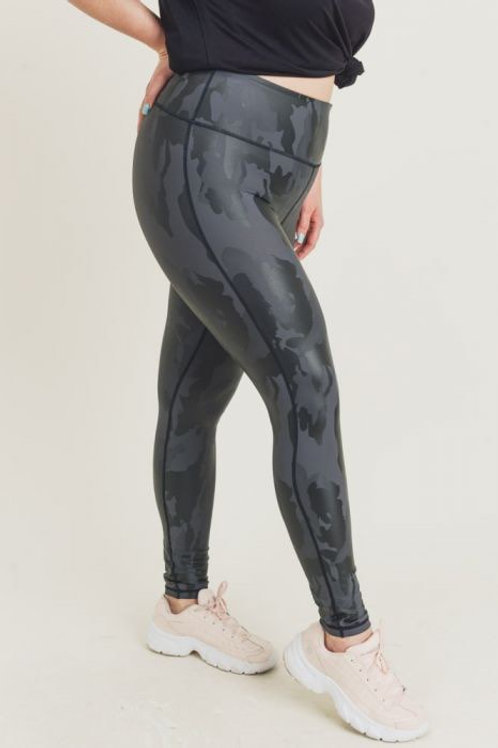 Foil Camo Print Leggings