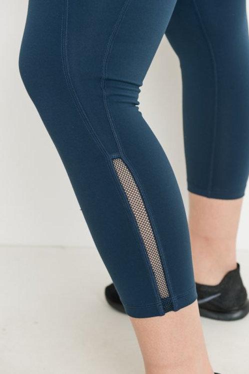 Teal Side Slit Detail Full Legging
