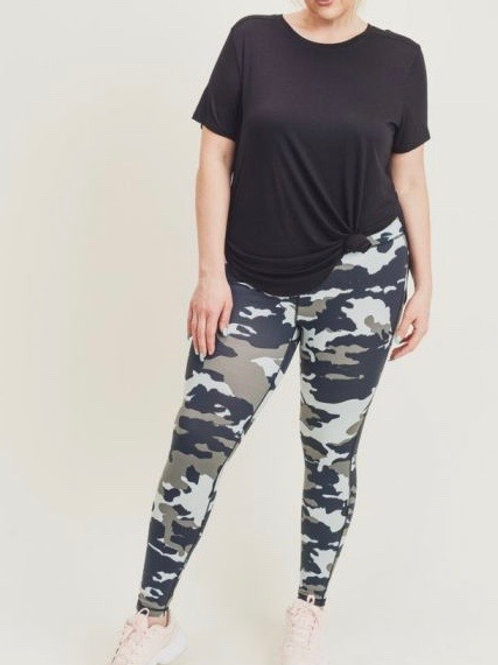 Jungle Camo Print Leggings