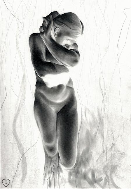 negative pencil art