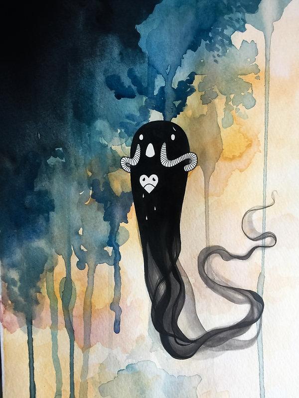 watercolor character art