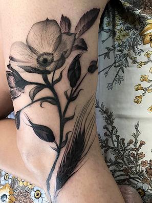 x-ray floral tattoo