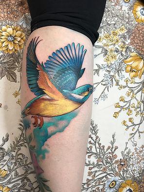 hummingbird color tattoo