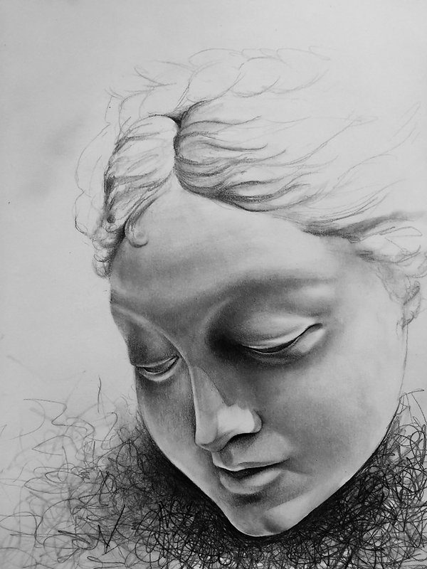 face pencil drawing