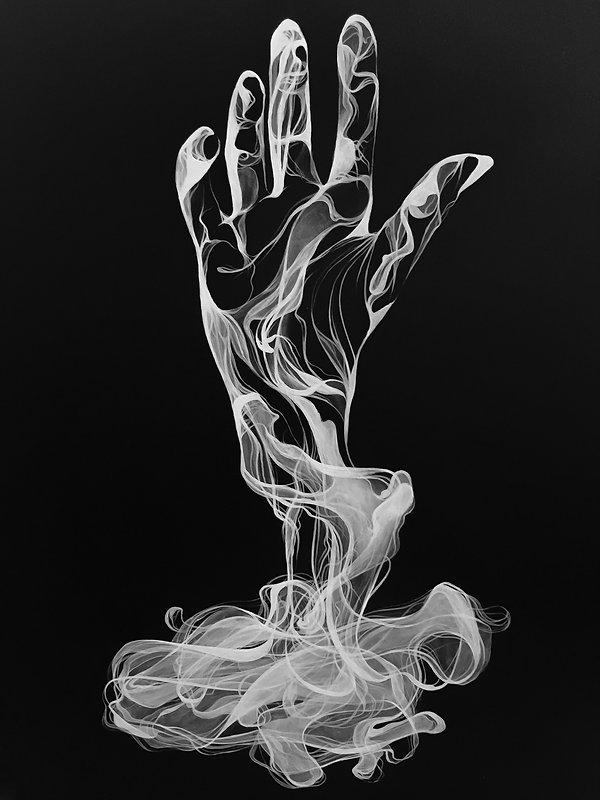 negative smoke art