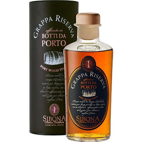 Antica Distilleria Sibona, Grappa di Nebbiolo Riserva Port Wood 44.0% 50cl