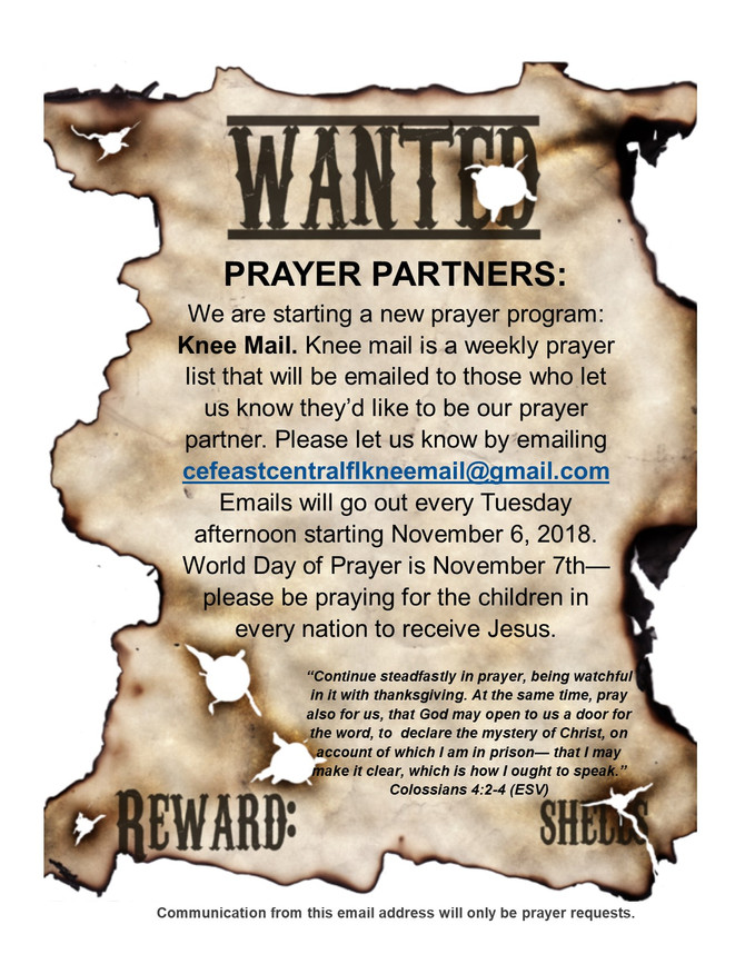 Wanted: Prayer Partners