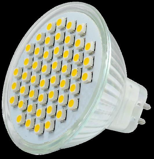 Lámpara 48 Leds 5W MR16 Luz Blca