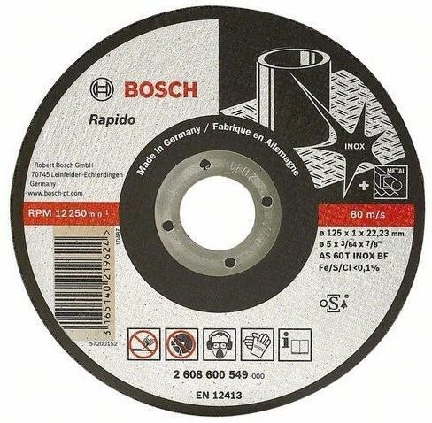 Disco Cort.Rap Inox 4½x3/64 Expe 600545*