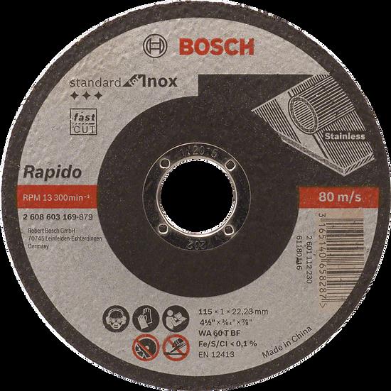 Disco Cort. Rap Inox. 4½x3/64 Sta 603169