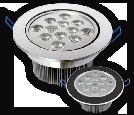 Lámpara LED 12W Acab Plata Luz Cáli