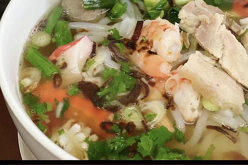 Nouille udon tapioca avec porc et crevettes