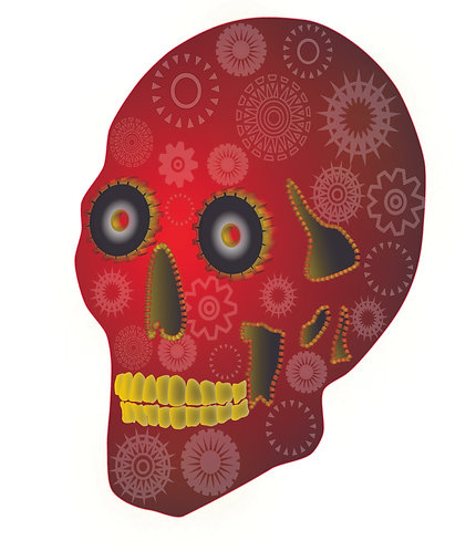 ABQ DEAD RED STICKER