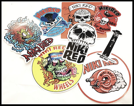 Combo Pack of 8 Stickers