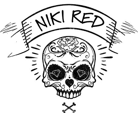 Niki Red Juarez Skull Sticker  COMING SOON