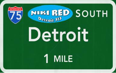 Niki Red Detroit 313 Sticker