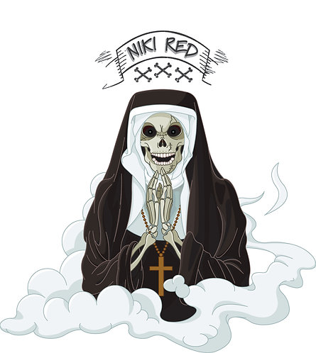 Nun of from the Dead Sticker