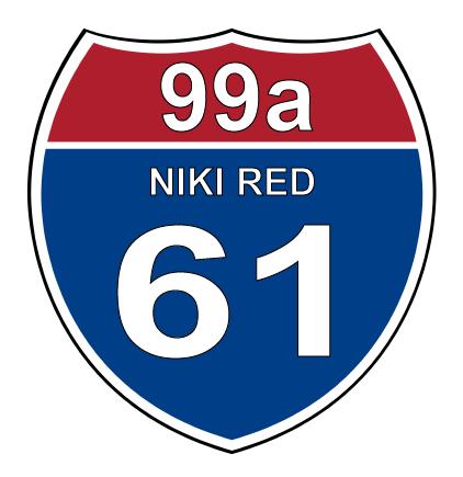 Niki Red Interstate Sticker