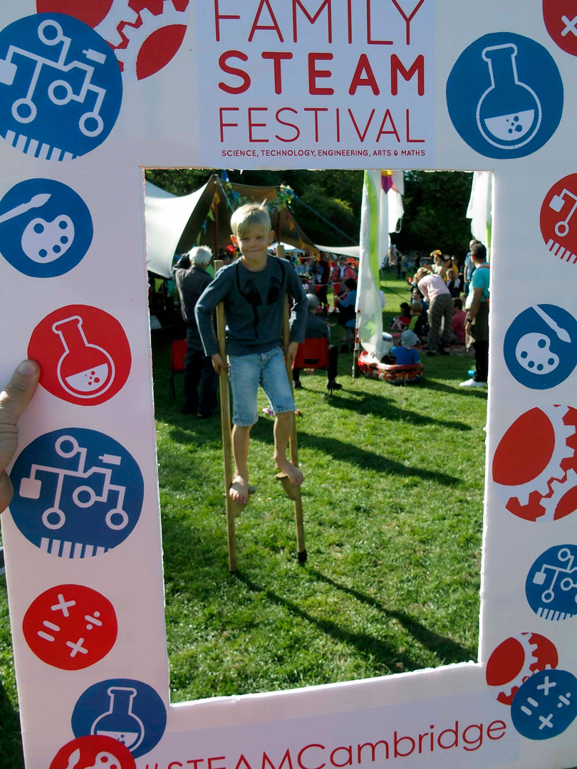 Stiltwalking at Family steam Festival
