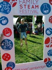 Stiltwalking at Family steam Festival