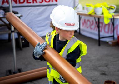 Construction worker child