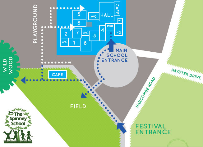 Family STEAM Festival site map