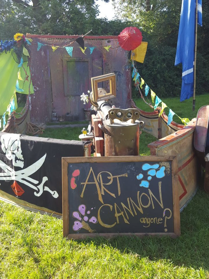 Art Cannon at Family steam Festival