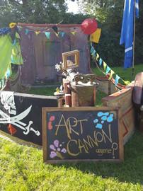 Art Cannon at Family steam Festival