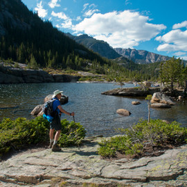 Hiking to Mills Lake, Jewel Lake and Black Lake - Rocky Mountain National Park, Colorado