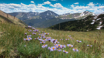 Hiking in Arapahoe National Forest, Colorado, U.S.A