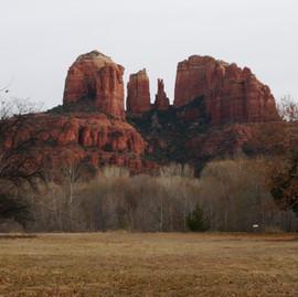 Cathedral Rock & Center of Town - Sedona, Arizona