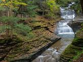 Hiking at Buttermilk Falls - Finger Lakes Region, New York