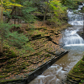 Hiking at Buttermilk Falls - Finger Lakes Region, New York